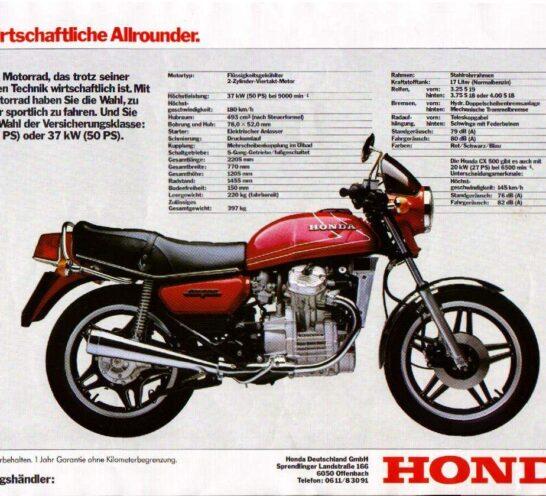 Modelos: Honda CX500 (1)